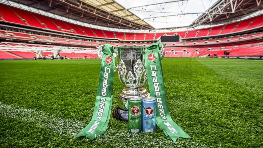 Carabao, a type of energy drink with high levels of sugar and caffeine, currently sponsors the EFL Cup.