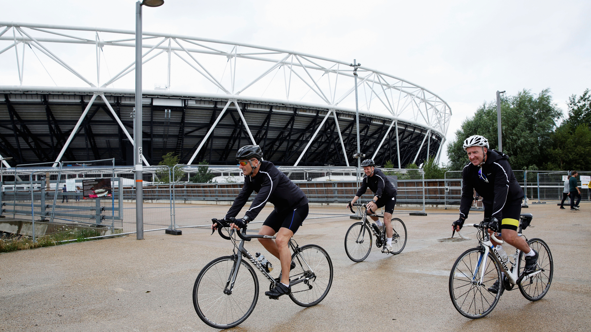 Active Cities: Cyclists outside London Stadium