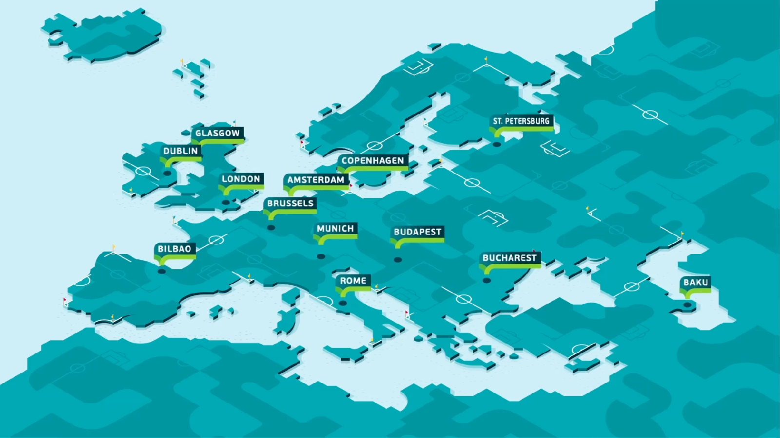 UEFA EURO 2020 Map 2