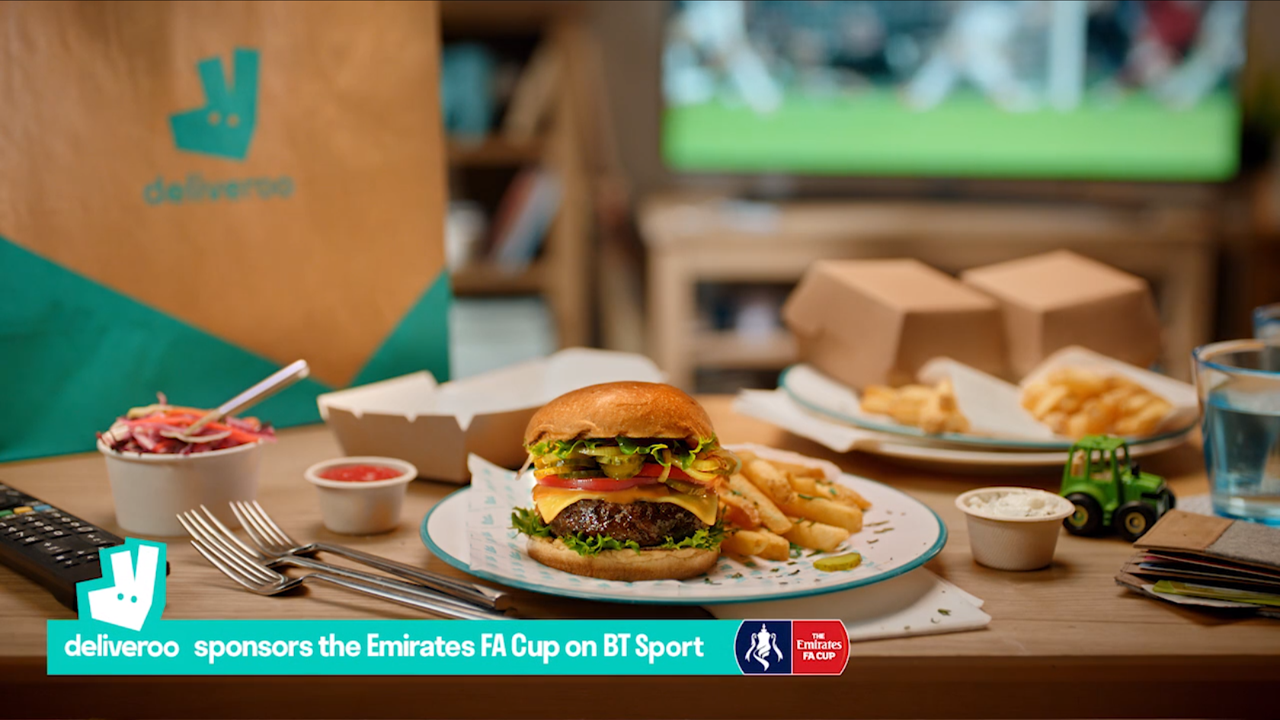 Deliveroo sponsors the Emirates FA Cup on BT Sport